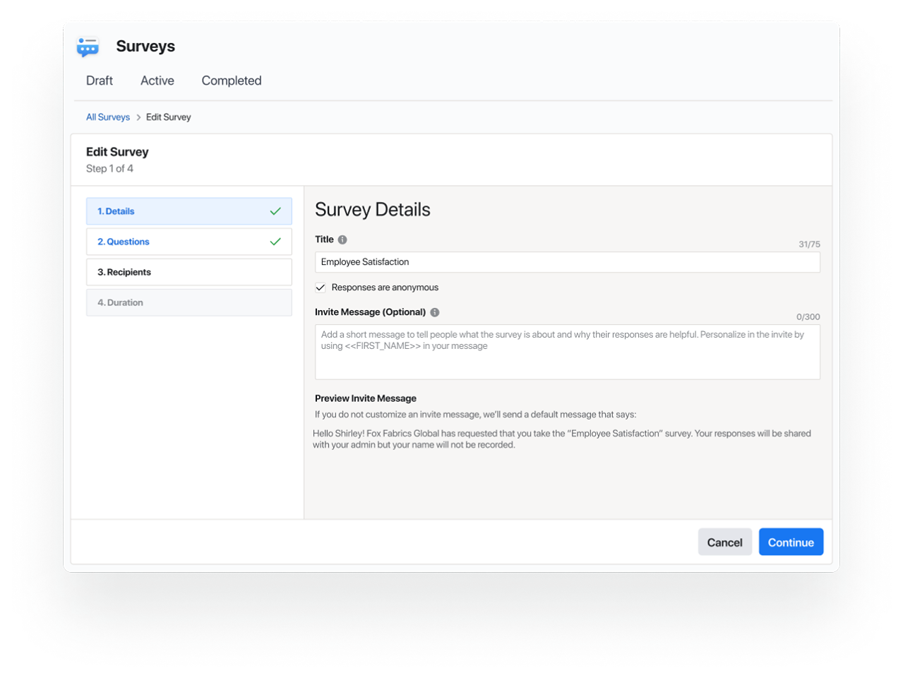 1.13 Surveys