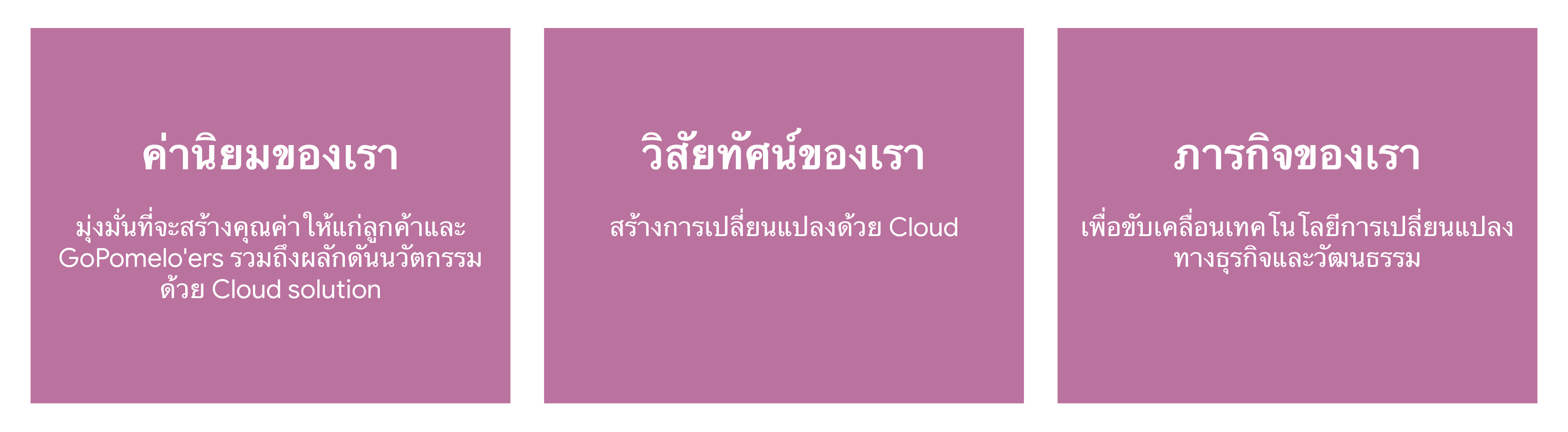 About us 2020 - Thai