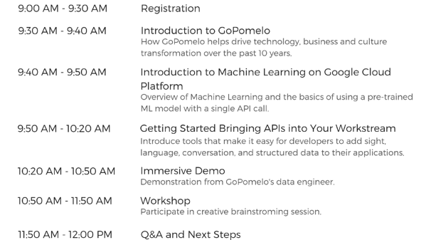 M11-09-19 Are you ready for Machine Learning_ - Agenda