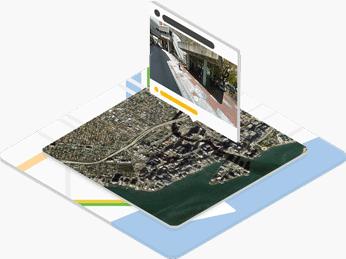 Google Maps location visualization
